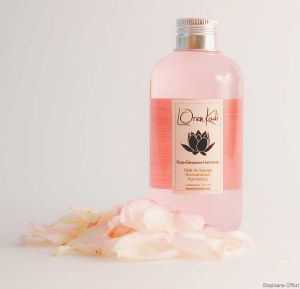 "Huile de massage ""Rose-Géranium Harmonie"" - 210 ml - ayurvédique naturel - Vegan"