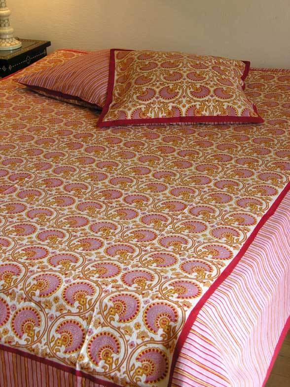 magnolia 45 jet de lit canap 225x270 cm coton imprim main. Black Bedroom Furniture Sets. Home Design Ideas